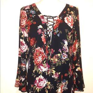 Blush Floral Mini Dress size S
